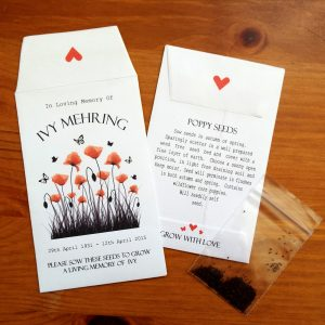 personalised poppy seeds