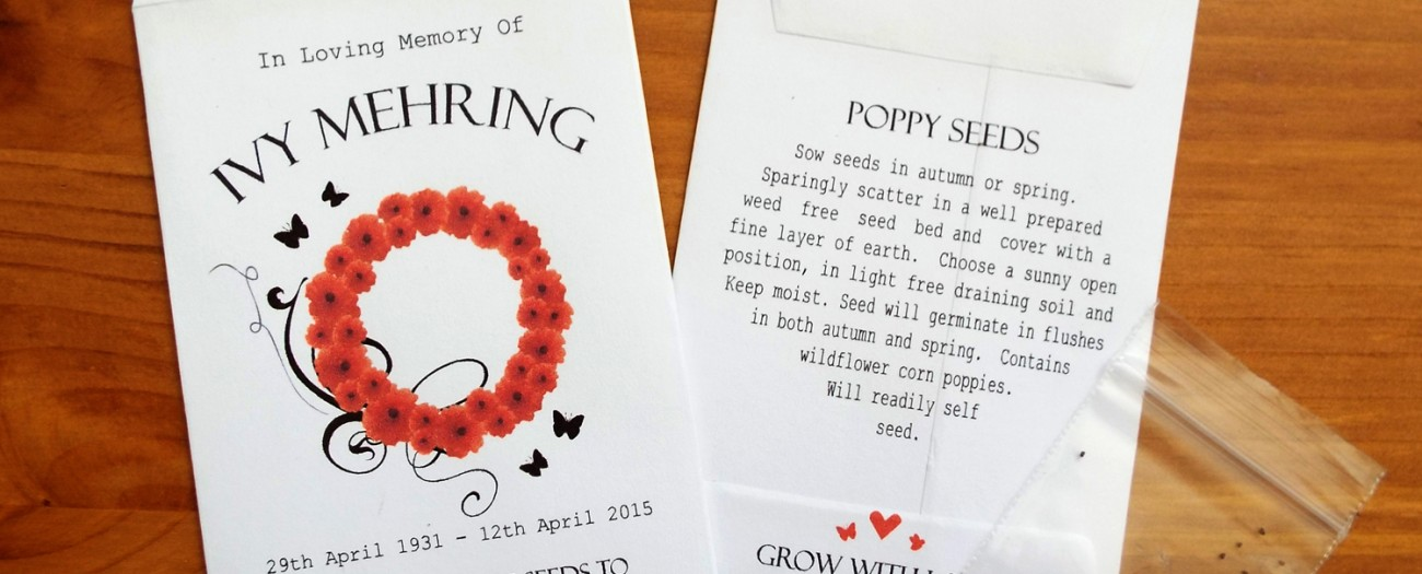 poppy seed favours