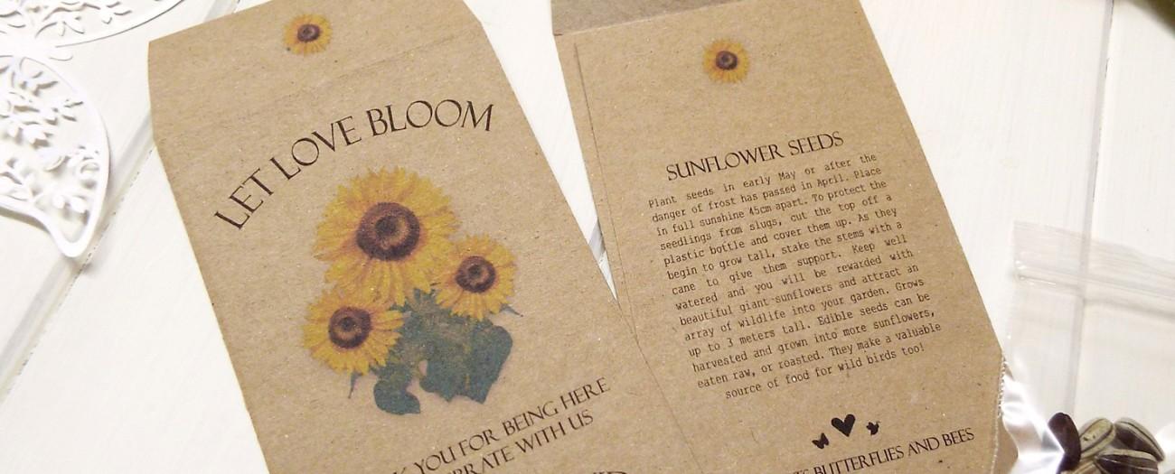 Personalised Sunflower Seeds