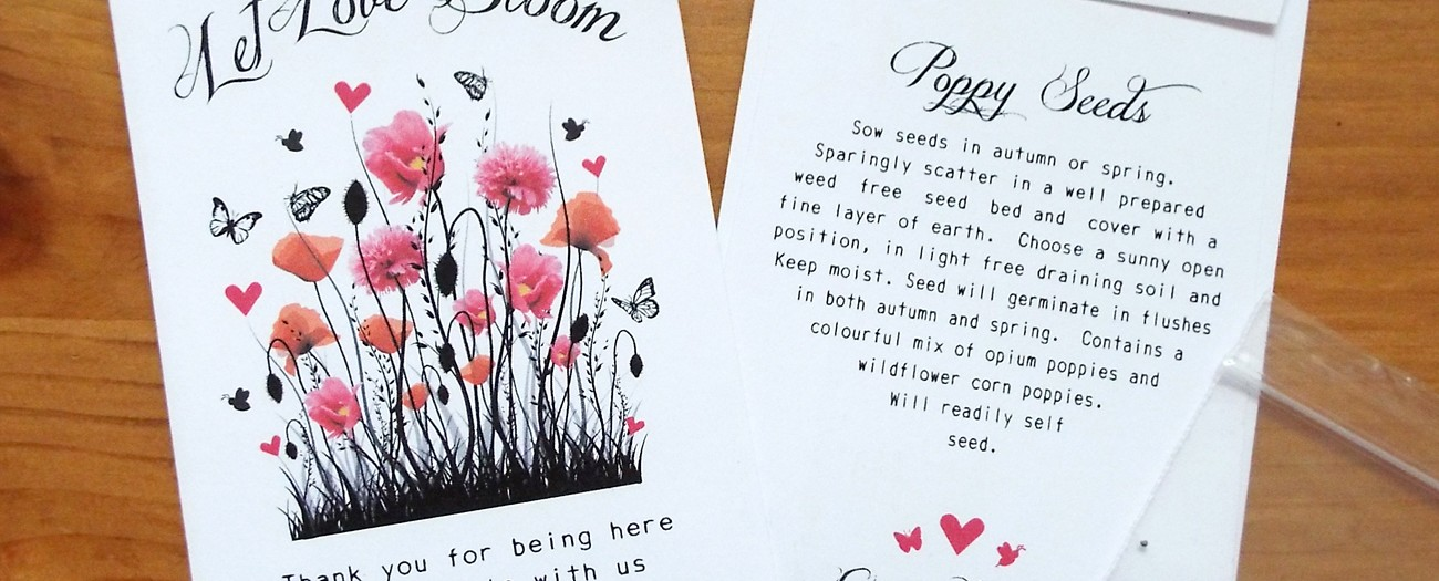 personalised seed packets