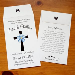 funeral seed favours