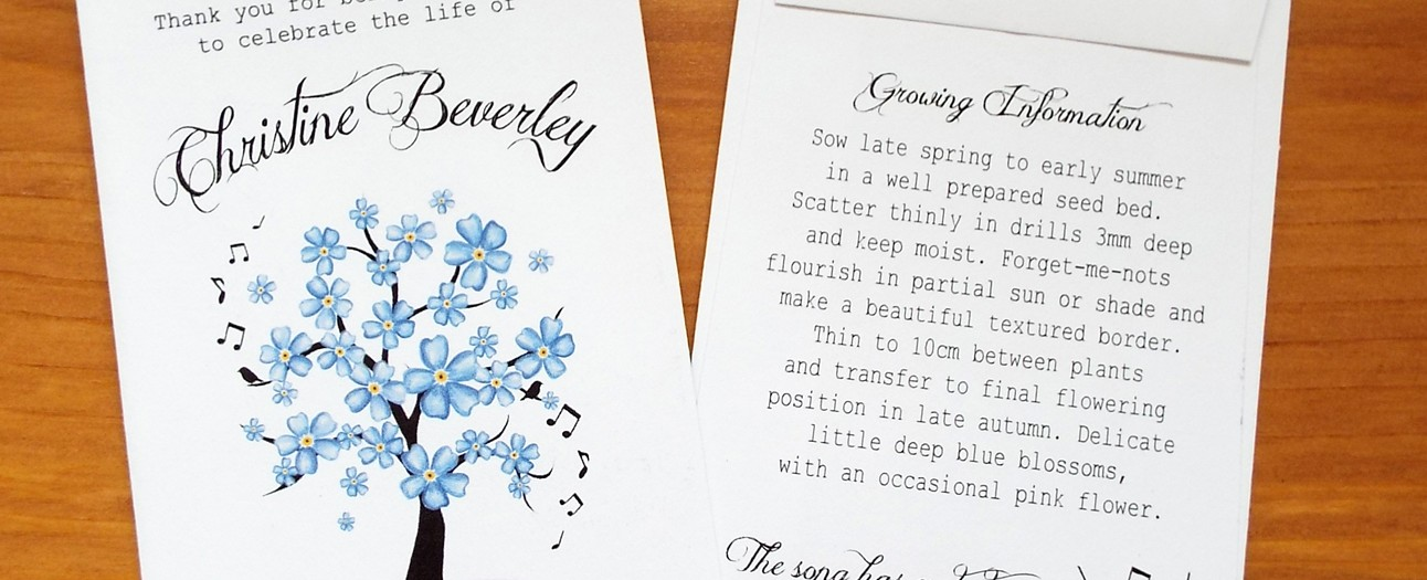 forget me not seed favours