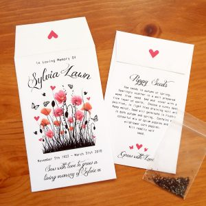 personalised funeral seeds