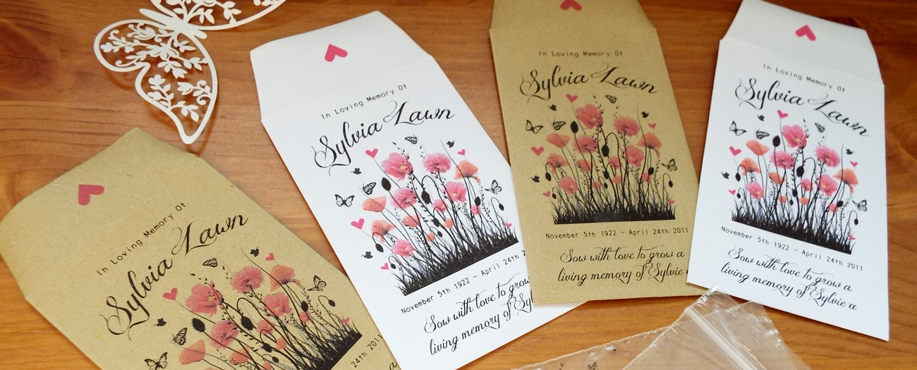 Funeral Seed Packets