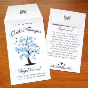 personalised funeral memorial seeds