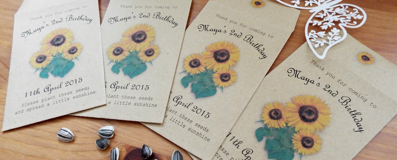 sunflower seed favours