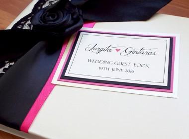 GUEST BOOK – PINK BLACK ROSE