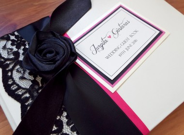 GUEST BOOK – PINK BLACK ROSE L2