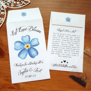 Forget-Me-Not Wedding Favours