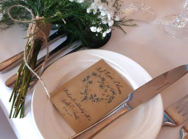 sweet pea wedding favour brown sadies wedding